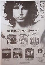 "MUSIC POSTER~Jim Morrison The Doors Collection LP Albums 22x32"" Promo NOS Orig.~"