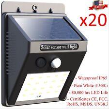 20x Outdoor Wall Lamp 20 Led Solar Power PIR Motion Sensor IP65 Waterproof Light