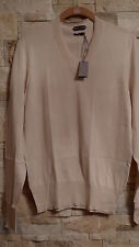 TOM FORD MEN'S V-NECK IVORY COLOR SILK/COTTON SWEATER ITALY SIZE 48 / S