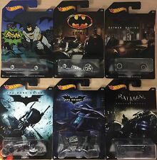 2017 Hot Wheels Batman Walmart Exclusive Set of all 6 Six Cars Tv Batmobile 1966