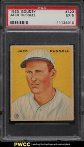 1933 Goudey Jack Russell #123 PSA 5 EX