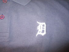 Blue DETROIT TIGERS Embroidered Old English D Logo Golf Shirt Small Reebok