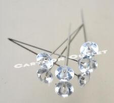 144 Pc Clear Diamond Pins Corsage & Bouquet Pin Diamante Bridal Wedding 15 Anos