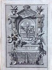 LACRYMIS AMPLECTITUR acquaforte originale XVIII secolo piangendo abbracciati