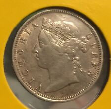 1895 QV 20 cents  silver  Coin Very High Grade  scare coin!