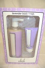 New Whish Organic Lavender 16 oz Three Whishes Body Wash + Travel Size 2 oz