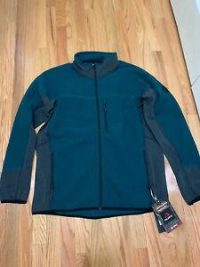 Burton Snowboards Minturn FZ Polartec Fleece Jacket Teal Black Sz XL NWT $150