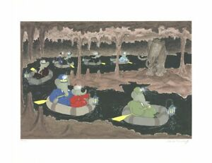 LAURENT DE BRUNHOFF Babar in the Cave of the Mamouth SIGNED 22.75 x 29.5 Serigra