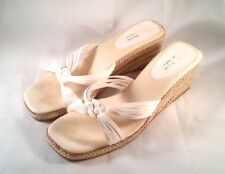 Soft Style by Hush Puppies  Lacy Sandals Slip on Wedge Heel- Size 11 Wide