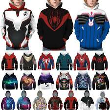 Kinder Jungen Mädchen 3D Marvel Anime Sweatshirt Kapuzenpullover Hoodie Top 7-14