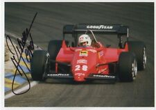 "Rene Arnoux ""FERRARI"" AUTOGRAFO SIGNED 13x18 cm immagine"