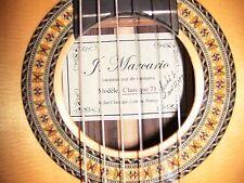Brand New 2011 J. Marcario Classical Guitar model 75 with original hard case NR