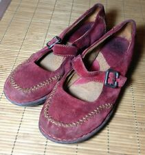 Born Footwear Women's Size 10 Red Mary Janes Suede