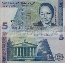Kyrgystan 5 Som 1997 Unc pn 13