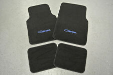 1966-67 Dodge Charger 4 Piece Floor Mats Set BLUE Embroidery MADE IN THE USA