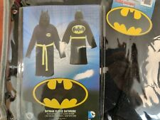 DC Comics Batman Bathrobe Adult One Size Fits All Black Fleece Big Logo TMur8