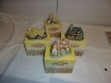 4x David Winter Cottages Lot 1982 Series. Amazing Condition w/ boxes and Coa