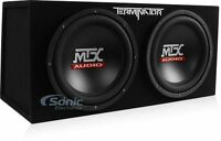 MTX TNE212D 12-Inch 1200-Watt RMS Car Audio Dual Loaded Subwoofer Box Enclosure