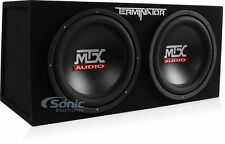 MTX TNE212D 12-Inch 1200-Watt RMS Car Audio Dual Loaded Subwoofer Box Enclosure