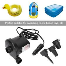 12V Electric Air Pump 3 Nozzles Rechargeable for Inflatable Beach Toys Mattress