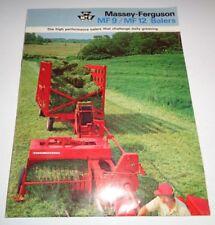 Massey Ferguson MF 9 & MF 12 Baler Sales Brochure Manual Original! Huge Fold-Out