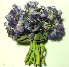 Vintage Millinery Flower Violet Bunch Purple Bouquet Spray Floral 1950's