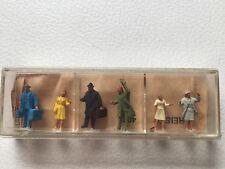 Boîte de 6 personnages de quai PREISER échelle 1:90 Années 60, inutilisés