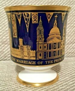 Limited Edition Coalport 1981 The Marriage of Prince Charles Bone China Goblet