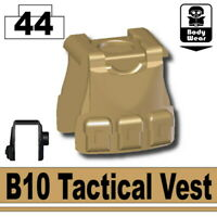 W254 compatible with toy brick minifigures Black BS14 Tactical Army Vest