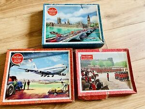 3 x Vintage Victory Wooden Jigsaws