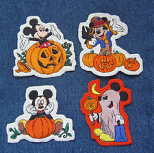 Disney Mickey Mouse HAPPY HALLOWEEN Four Patch Set Disney Halloween Ghost Crow