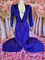 Vtg Vanity Fair Purple Silky Nylon Robe Size Small Made in USA Antron III NWOT