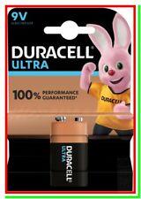 Batteria Pila DURACELL 9v ULTRA POWER Check MX1604 6LR61 Duralock 9 v volt block