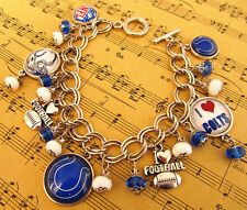 "INDIANAPOLIS COLTS CHARM BRACELET FROM THE ""COSTUME JEWELRY KING"" SPRING SPECIAL"