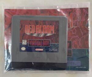 Nintendo Virtual Boy Red Alarm (us) Cartridge + Manual Great Condition