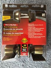 Combo SilvaBond Dual Point Locking Master Lock Security Set  ~NIB~ ANTIQUE BRASS