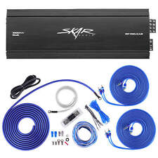 SKAR AUDIO RP-150.4AB 1000W CLASS A/B 4 CH AMP BUNDLE 4 GAUGE OFC AMP KIT & RCA