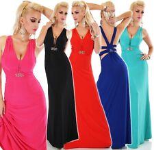 Señora Lang Maxi vestido de noche vestido de baile damas de honor fiesta event cóctel 34-38