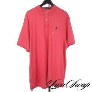 NWT Polo Ralph Lauren Coral Flamingo Pink MODERN Stretch Jersey Tennis Shirt XXL