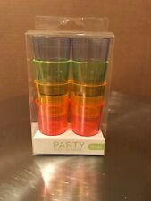 Multi-Color party shot glasses - 8 count - new