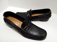 Salvatore Ferragamo 12 B Black Leather Bit Loafers Italy