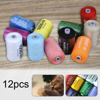12x1000 yards multicolor machine polyester industrial pure sewing thread machine