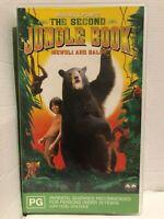 RUDYARD KIPLING ~ THE SECOND JUNGLE BOOK ~ MOWGLI AND BALOU ~ AS NEW VHS VIDEO