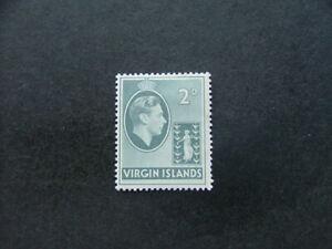 Virgin Islands KGVI 1938 2d grey Chalky Paper SG113 MM