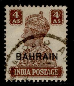 BAHRAIN GVI SG47, 4a brown, FINE USED.