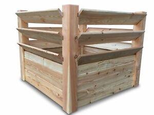 stabiles Hochbeet Kräuterbeet aus unbehandeltem Holz 100x100x80 cm