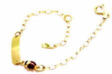 Bracelet Yellow Gold 18KT Ladybug Child Ceremony