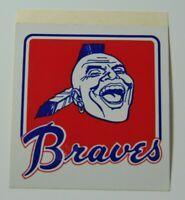 Vintage 1970s Atlanta Braves Native American Mohawk Logo MLB Baseball Sticker