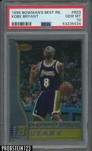 1996-97 Bowman's Best #R23 Kobe Bryant Lakers RC Rookie PSA 10 GEM MINT