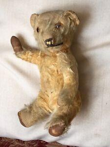 "Chiltern Teddy Bear needs TLC 1930s 9"" Antique, Vintage, Old."